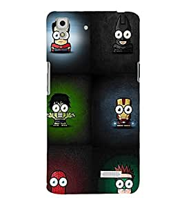 printtech Minimalistic Heroes Back Case Cover for Oppo R7 Lite