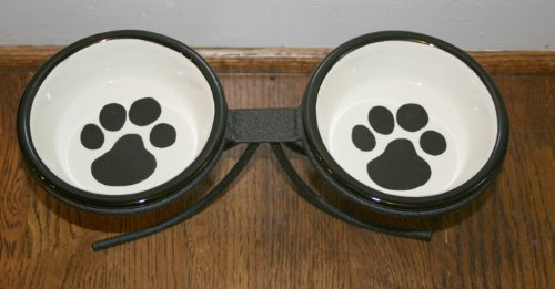 Melia Ceramic Dog Bowl Set