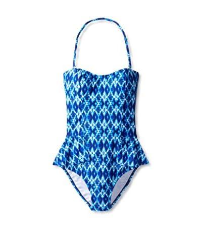 Jessica Simpson Women's Navajo Strapless Peplum 1-Piece Swimsuit