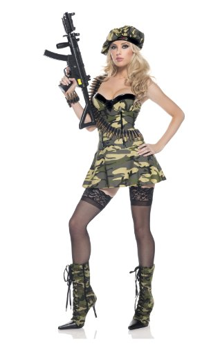Be Wicked Costumes Women's Private Ambush Soldier Costume