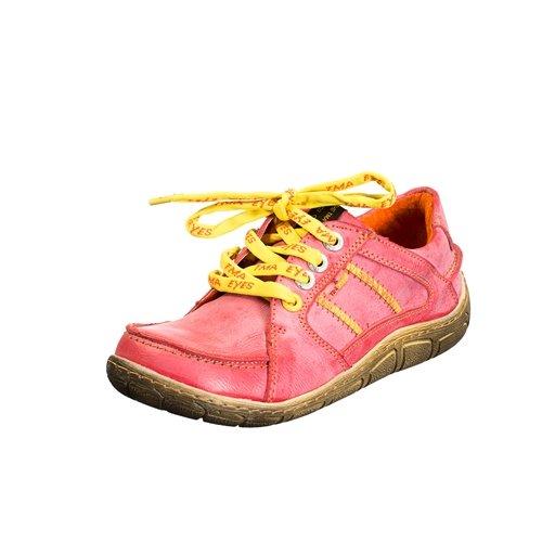 TMA EYES 1458 Schnürer Gr.36-42 mit bequemen perforiertem Fußbett , Leder 39.35 super leichter Schuh der neuen Saison. ATMUNGSAKTIV in Rot Gr. 36