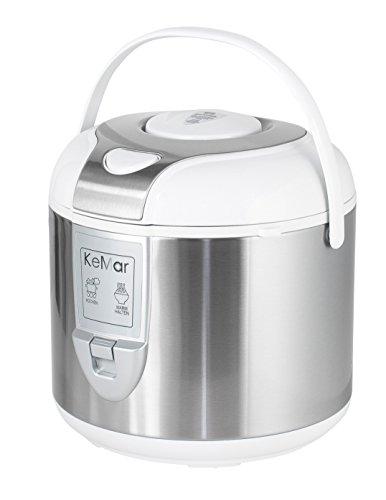 KeMar-KRC-120-Reiskocher-BPA-frei-Dampfgarer-mit-Warmhaltefunktion-Edelstahl-Dmpfeinsatz-Titan-Keramik-antihaftbeschichteter-Innentopf