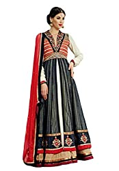 Nirali Womens Silk Dress Material (Kimora 901 Jodha -Multi-Coloured -Free Size)