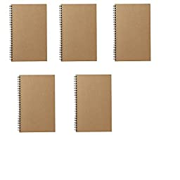 MoMa MUJI Grid Notebook A5 7㎜ 48sheets - Pack of 5books Beige