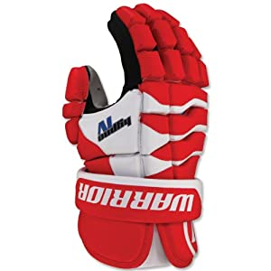 Warrior Hypno 4 Lacrosse Glove (13-Inch, Red)