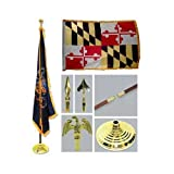 Maryland 3ft x 5ft Flag Flagpole Base and Tassel