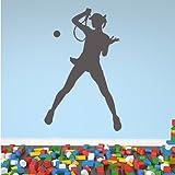 Femme Tennis mur