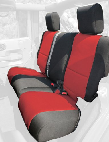 Rugged Ridge 13264.53 Black & Red Custom Neoprene Rear Seat Cover