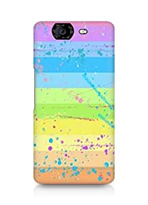 Amez designer printed 3d premium high quality back case cover for Micromax Canvas Knight A350 (rainbow)