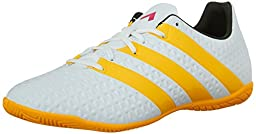 adidas Performance Women\'s Ace 16.4 In W Soccer Shoe,White/Silver/Shock Blue,9.5 M US