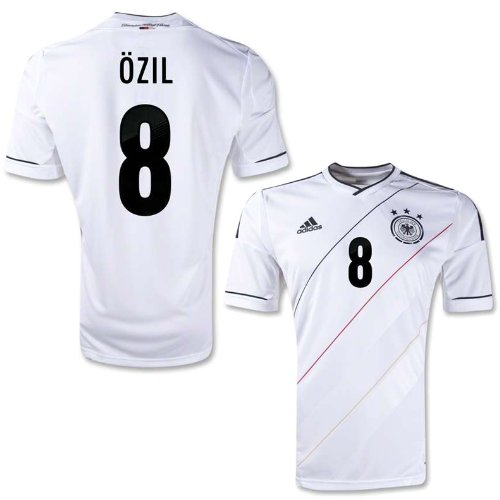 Adidas Ozil #8 Germany Home 2012 Jersey