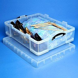 REALLY USE BOX Boîte plastique 70 L 810x620x h225 mm avec Couvercle transparent incolore