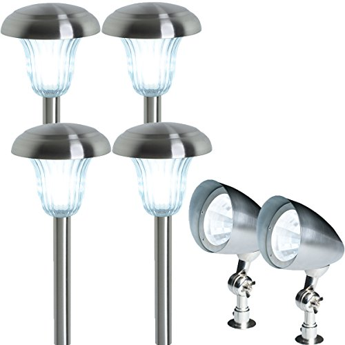 (6 Pack) Westinghouse Seation Low Voltage Pathway Lighting Set, Stainless Steel