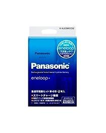 Panasonic eneloop 急速充電器セット 単4形 2本付 スタンダードモデル K-KJ23MCC02