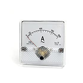 AC 0-200A Plastic Housing Analog Panel Meter Ammeter