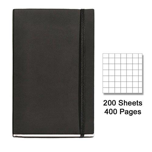 basicos-mr-10401-flexible-piel-cuaderno-4-200-hojas-cuadricula-con-goma-color-negro