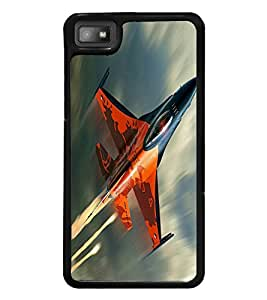 printtech Jet Plane Sky Back Case Cover for BlackBerry Z10