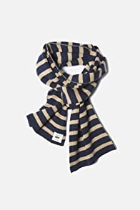 Men's Striped Cotton Scarf