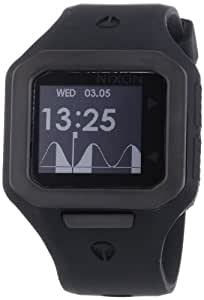 Nixon Herren-Armbanduhr The Supertide All Black Digital Quarz Silikon A316001-00