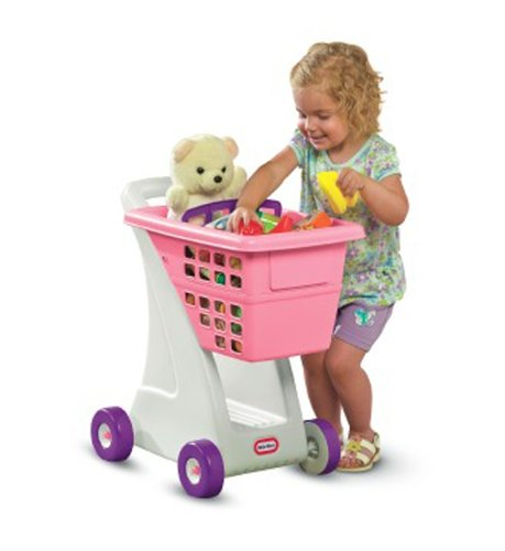 An Image of Little Tikes Shopping Cart - Pink