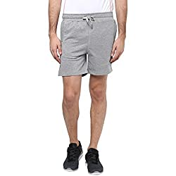Ajile by Pantaloons Mens Regular Fit Shorts Grey Melange L