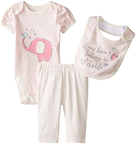 The Children's Place Baby-Girls Infant Elephant Play Set, Petal, 3-6 Months