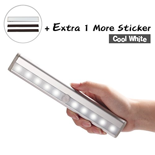 LOFTEK® Automatic Sensor Closet Light operated with four AAA batteries(not included),Great for Closet, Under-Cabinet, Bar Light Lamp- Portable, Bright, Durable - Cool white picture