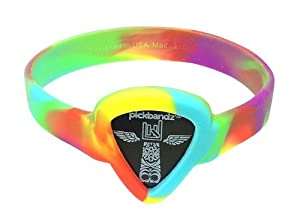 Pickbandz Bracelet Peace Out Tie Dye Medium/Large - Guitar Pick Holder Bracelet