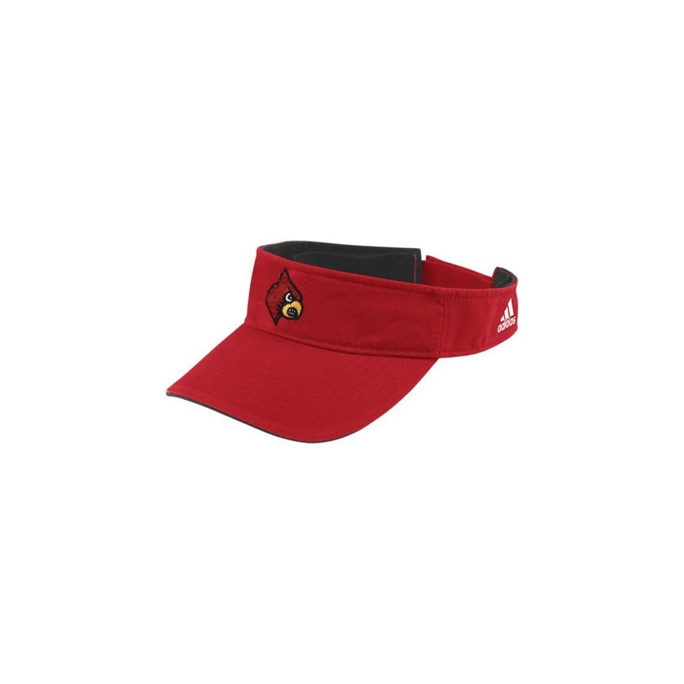 adidas Louisville Cardinals Youth Red Basic Logo Adjustable Visor