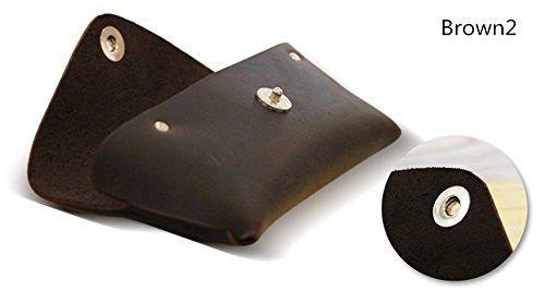 YAAGLE Genuine Leather Glasses Bag Case Soft Vintage Handmade 3