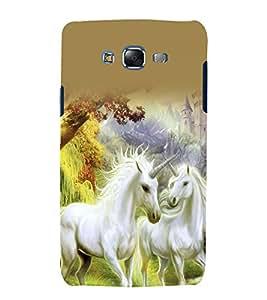 printtech Nature Unicorn Fantasy Back Case Cover for Samsung Galaxy E7 / Samsung Galaxy E7 E700F