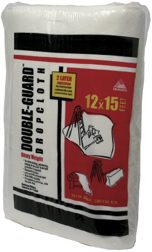 Trimaco 12-Feet by 15-Feet Double Guard Non-Woven/Poly Laminated Drop Cloths 02703