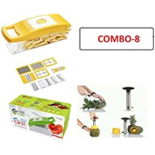 Home Cube Plastic 12 In 1 Fruits And Vegetable Cutter With Steel Pineapple Cutter