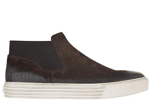 Hogan Rebel slip on uomo in camoscio sneakers nuove originali r206 marrone EU 44 HXM2060ST601OTS807