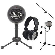 buy Blue Snowball Black Usb Mic Stands Filter Cad Mh110 Headphones