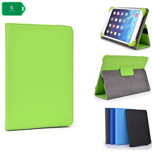 2 In 1 Protective Tablet Cover- Secure Fit With Standing Feature- Universal Design In Lime Green - Apple Ipad Air front-1086638