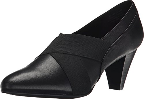 David Tate Women's Karen Fashion Pumps, Black Leather, 13 W
