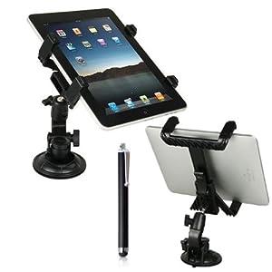 Bestwe 360 Grad drehbar Universal Auto KFZ Halterung für Samsung Galaxy Tab 3 7.0 Lite Tab Pro 8.4 10.1 Tab 4 7.0 8.0 10.1 /Tab S 8.4 10.5/ Sony Xperia Z2 / Apple iPad Air 2 / iPad Air / iPad mini 2 und für weitere Modelle + eine freie stylus