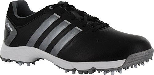 adidas Juniors adipower Golf Shoes 2 US Youth Black/Metallic (Black/Grey)
