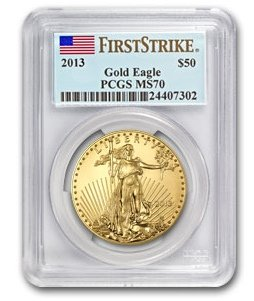 2013-American-Gold-Eagle-50-1-oz-Coin-PCGS-First-Strike-MS70