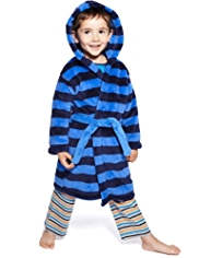 Waist Tie Tonal Striped Dressing Gown