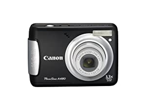 Canon PowerShot A480 10 MP Digital Camera with 3.3x Optical Zoom and 2.5-inch LCD (Black)