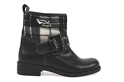 scarpe donna BRACCIALINI 36 stivaletti nero grigio pelle tessuto AN44-B