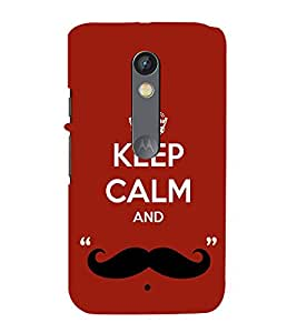 99Sublimation Nice Quote On Keep Carm 3D Hard Polycarbonate Back Case Cover for Motorola Moto X Force :: Dual SIM
