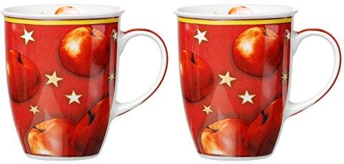 001945 Kaffeebecher-Set Winterapfel, 2-teilig, 320 ml
