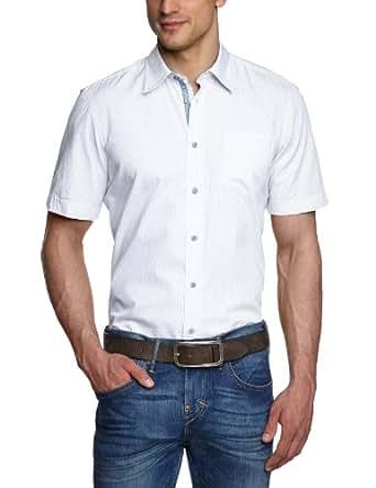 LERROS Herren Freizeithemd 2352224, Gr. 48 (S), Weiß (WHITE 100)