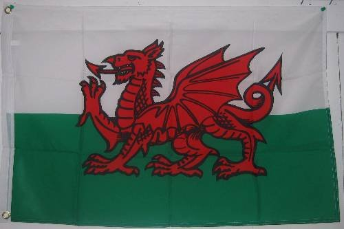 2x3 WALES FLAG - - - 2 foot x 3 foot - - - - - Welsh DRAGON FLAG