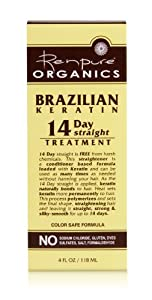 Renpure Organics Brazilian Keratin 14 Day Straight Treatment, 4 Ounce (Pack of 2)