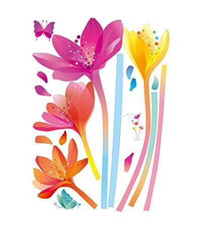 Ambiance Live Vinilo Decorativo Rainbow flowers Multicolor