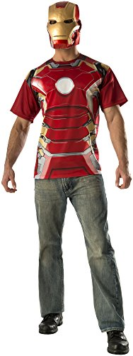 "Rubie's Costume Co Men's Avengers 2 Age Of Mark 43"" Iron Man T-Shirt and Mask"